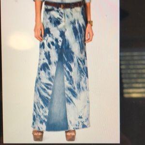 NWOT Michael by Michael Kors denim maxi skirt